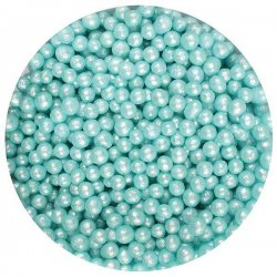 Purple Cupcakes Strössel Shimmer Pearls Sea Foam 4 mm
