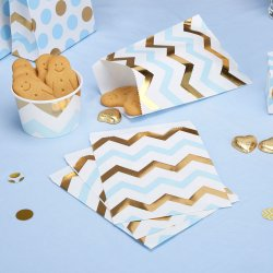 Pattern Works Treat Bags Chevron Blå