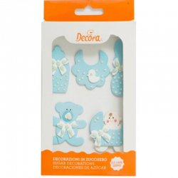 Decora sockerdekorationer Baby Blue