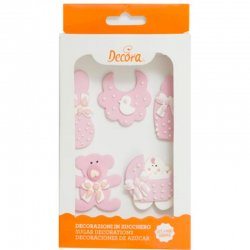 Decora sockerdekorationer Baby Pink