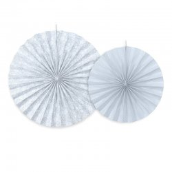 Decorative Rosettes Grey Blue