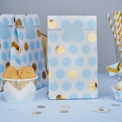 Pattern Works Party Bags Dots Blå 5-pack