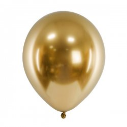 50 st Glossy Balloons - guld