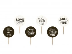 Cupcake toppers Sweet Love