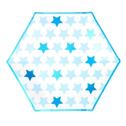 Tallrikar Little Star Blue 8 st