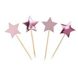 Cupcake toppers Little Star Pink 20 st