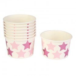 Bägare Little Star Pink 8 st