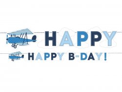 Banner Little Plane Happy Birthday