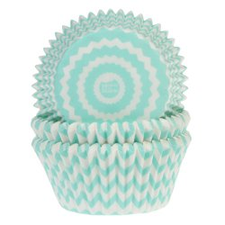 50 House of Marie muffinsformar Chevron Mint