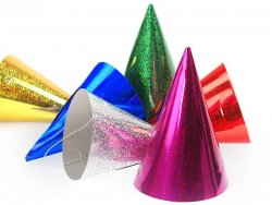 Partyhattar Holographic mix 20 st