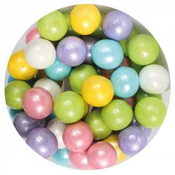 Purple Cupcakes Strössel Large Sugar Pearls Rainbow 10 mm