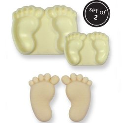 JEM Pop It Mould- Baby Feet 2-pack