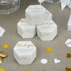 Scripted Marble Favour Boxes