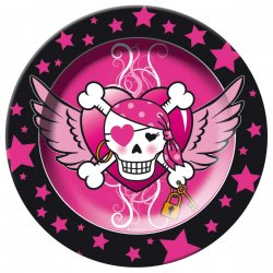 Tallrikar Pink Pirates