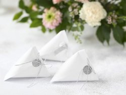 Treat Boxes with tags Elegant Bliss White