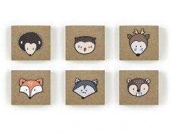 Woodland gift boxes 6 st