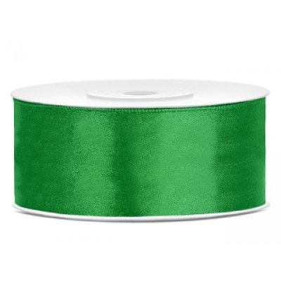 25 m Satinband Green 25mm