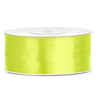25 m Satinband Neon Green 25mm