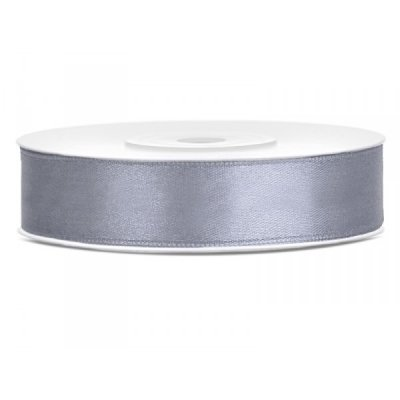 Satinband Light Grey 12 mm