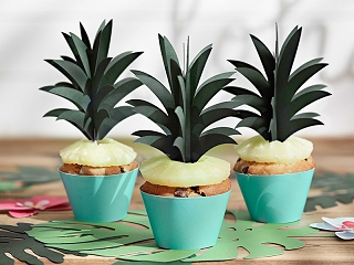 Cupcake toppers Aloha 6-pack