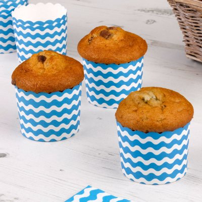 Carnival Blue Baking Cups