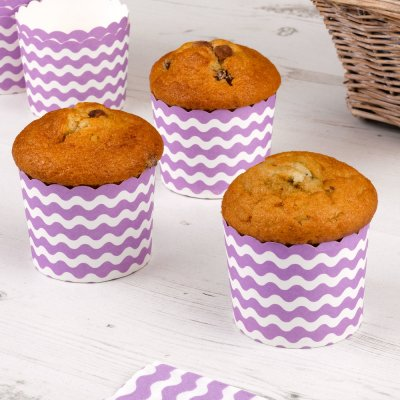 Carnival Purple Baking Cups