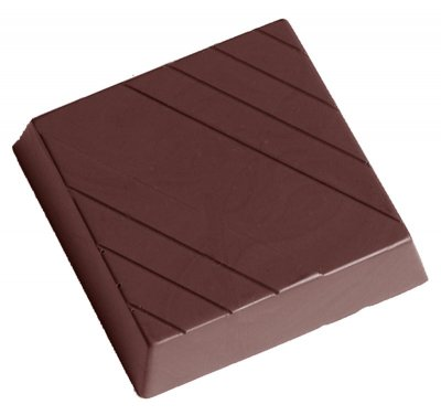 Chocolate World Pralinform Square with lines CW2356