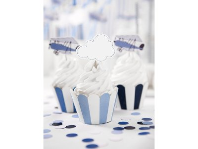 Cupcake toppers Little Plane