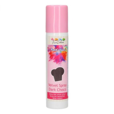 FunCakes Velvet Spray Dark Choco 100 ml