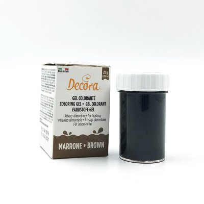 Decora pastafärg Brown 28 g