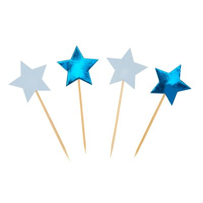 Cupcake toppers Little Star Blue 20 st