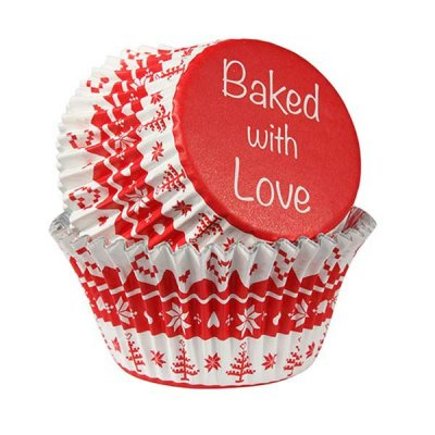 Baked with Love Muffinsformar Nordic Red 25 st