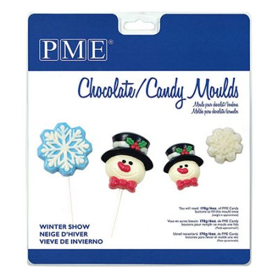 PME candy mould Winter snow