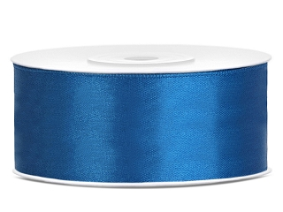 Satinband Blue 25 mm - Metervis