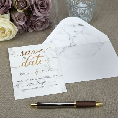 Scripted Marble Save The Date