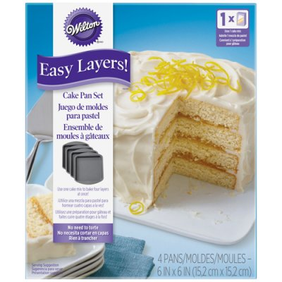 15 cm Wilton SQUARE Cake Pan Easy layers