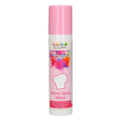 FunCakes Velvet Spray White 100 ml